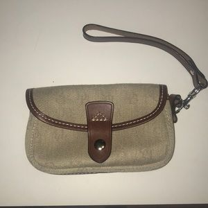 small dooney and bourke wristlet/ glasses holder